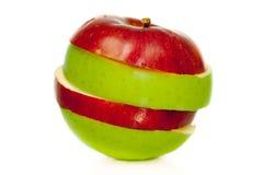 Sliced apple. Isolated on white background Stock Image