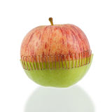 Sliced apple halves Royalty Free Stock Images
