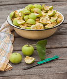 Sliced apple jam in a bowl Royalty Free Stock Photography