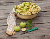 Sliced apple jam in a bowl Stock Image