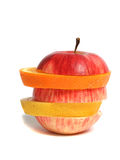 Sliced apple, orange and lemon Royalty Free Stock Photography