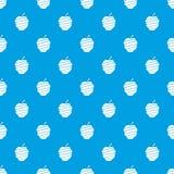 Sliced apple pattern seamless blue Stock Photo