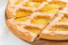 Sliced apple pie, close-up, horizontal Stock Photography