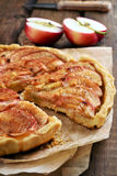 Sliced apple pie Royalty Free Stock Photography
