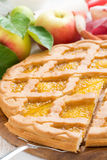 Sliced apple pie, selective focus Royalty Free Stock Image
