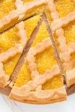 Sliced apple pie, top view Stock Image
