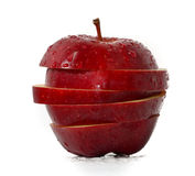Sliced Apples. One Fresh Sliced Apples Isolated Stock Photos