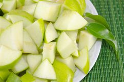 Sliced apples on a plate Royalty Free Stock Image