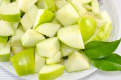Sliced apples on a plate Stock Photography