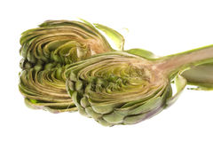 Sliced Artichoke Isolated Royalty Free Stock Photography