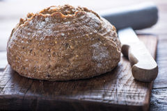 Sliced artisan bread loaf Royalty Free Stock Images