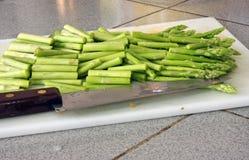 Sliced asparagus Royalty Free Stock Photo