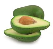 Sliced avocado Stock Photos