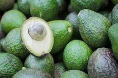 A sliced avocado on a cutting Royalty Free Stock Photos