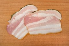 Sliced bacon Royalty Free Stock Photography