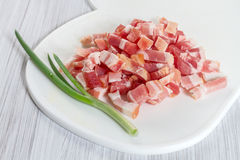 Sliced  bacon Stock Photography