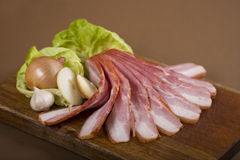 Sliced bacon Stock Images