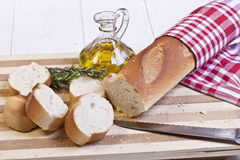 Sliced baguette bread Stock Photography
