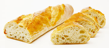 Sliced baguette Stock Photography