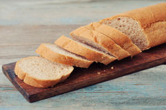 Sliced baguette Royalty Free Stock Images