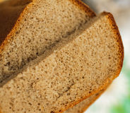 Sliced of baked brown bread Royalty Free Stock Photos