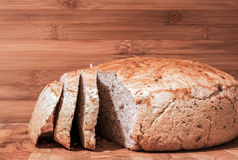 Sliced baked homemade bread Royalty Free Stock Images