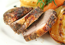Sliced Baked Lamb Royalty Free Stock Image