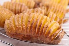 Sliced baked potato Stock Photo