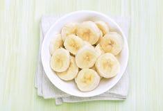 Sliced banana in bowl Royalty Free Stock Image