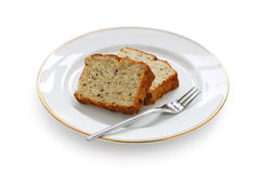 Sliced banana bread Stock Image
