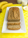 Sliced banana bread Royalty Free Stock Photos