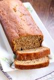 Sliced banana bread. Selective focus Stock Photo