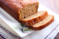 Sliced banana bread Royalty Free Stock Photography