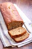 Sliced banana bread. Selective focus Royalty Free Stock Photography