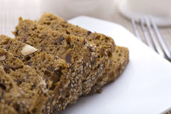 sliced banana cake Royalty Free Stock Photography
