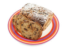 Sliced Banana Cake Stock Photos