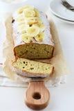 Sliced banana cake on board Royalty Free Stock Photo