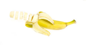 Sliced banana Royalty Free Stock Photography