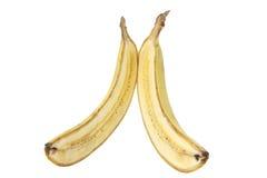 Sliced Banana. On White Background Stock Images