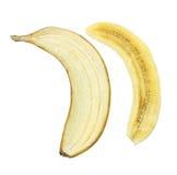 Sliced Banana. On White Background Royalty Free Stock Photography
