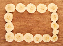 Sliced bananas Stock Photos