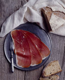 Sliced Bayonne ham Stock Image