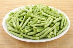 Sliced  beans Stock Photo