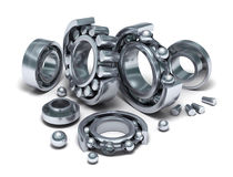 Sliced Bearings set and details Royalty Free Stock Photo