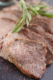 Sliced beef steak Royalty Free Stock Photos