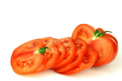Sliced beef tomato Royalty Free Stock Image