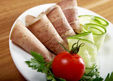 Sliced beef tongue Royalty Free Stock Photos