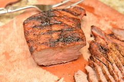 Sliced Beef Tri Tip stock image