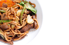 Sliced beef with udon noodle Royalty Free Stock Image
