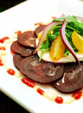Sliced Beet Salad with Onions stock images